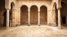 Atrium Of Euphrasian Basilica In Porec