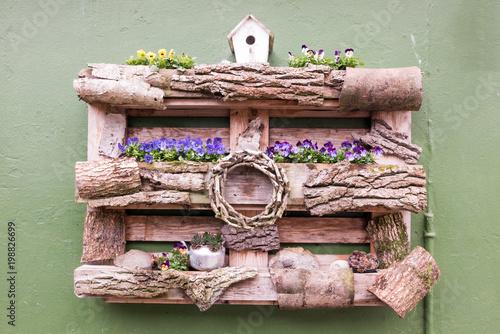 Blumen Dekoration Europalette Buy This Stock Photo And Explore