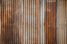 Rusty And Corrugated Iron Meta...