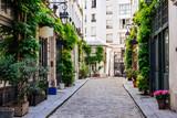 Fototapeta Uliczki - Cozy street in Paris, France