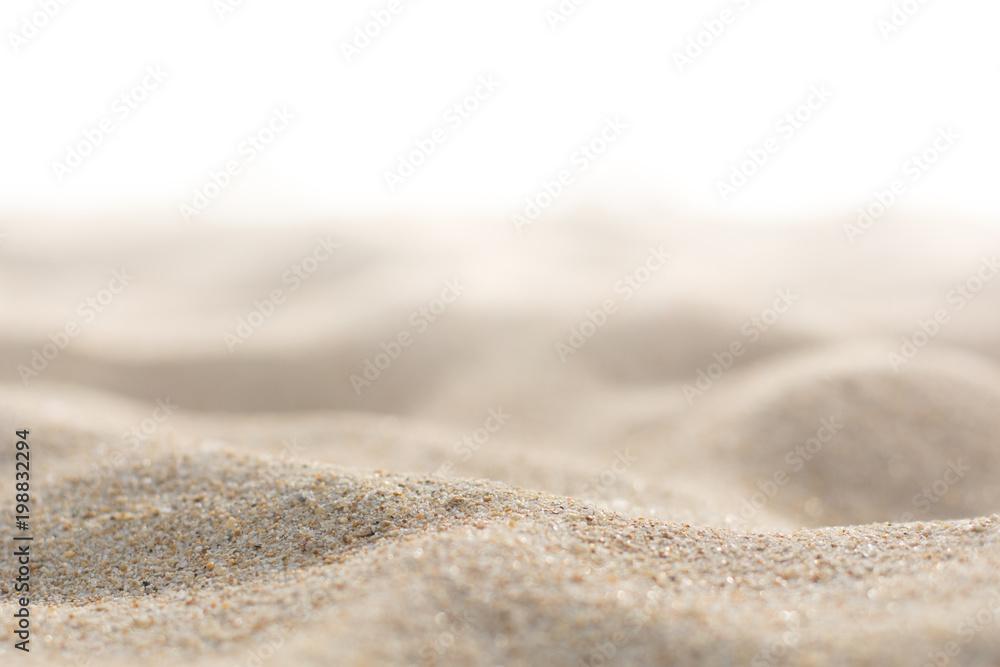 Fototapety, obrazy: Sand on white background