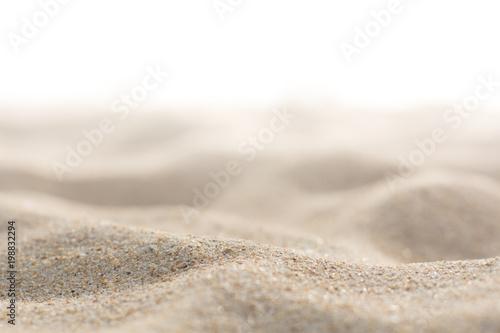 Obraz Sand on white background - fototapety do salonu