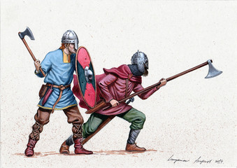 Vikings. Medieval knights i...