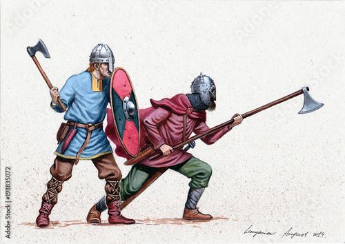 Vikings. Medieval knights i...