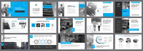 Valokuvatapetti Fifteen Marketing Slide Templates Set