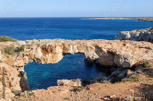 Foto op Canvas Cyprus natural stone bridge cave in Mediterranean Sea, Ayia Napa, Cyprus.