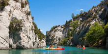 Gorge Du Verdon Canyon River In South Of France