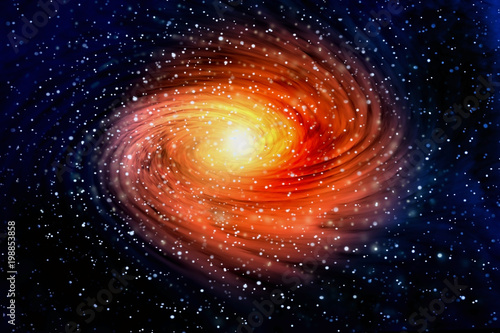 Foto auf Gartenposter Kosmos Spiral galaxy in outer spaces