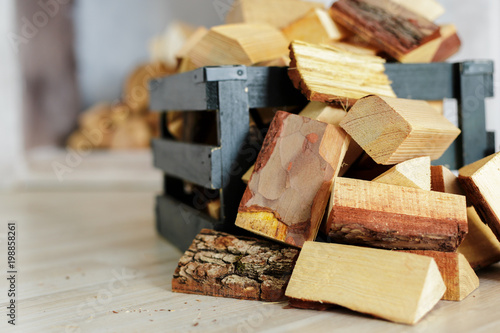 Photo Stands Firewood texture Pile of firewood
