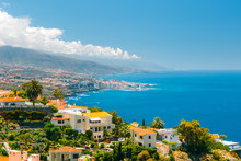 Aerial View Of City Center Of Puerto De La Cruz, Tenerife, Spain