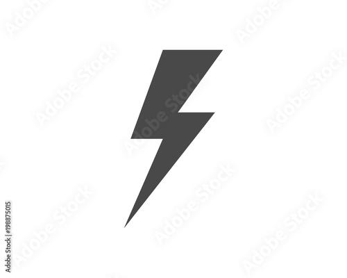 Photographie  lightning icon logo and symbols