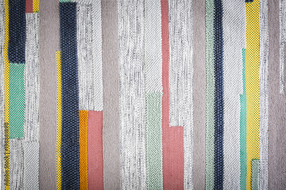 Fototapety, obrazy: Colorful striped carpet as background
