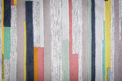 Fotografiet  Colorful striped carpet as background