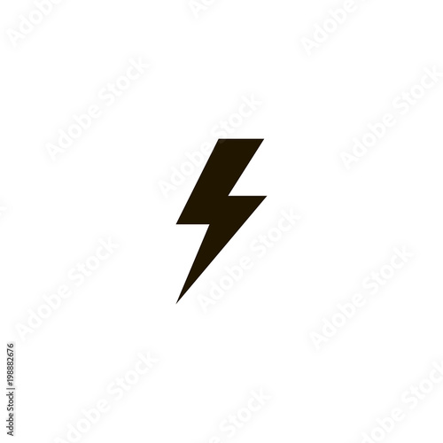 lightning icon. sign design Canvas Print