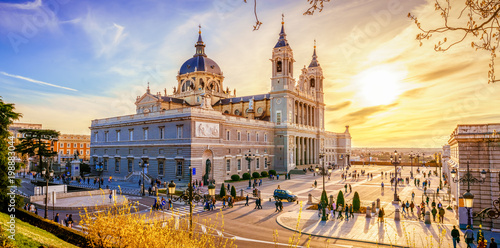 Foto op Aluminium Madrid The Cathedral of Madrid