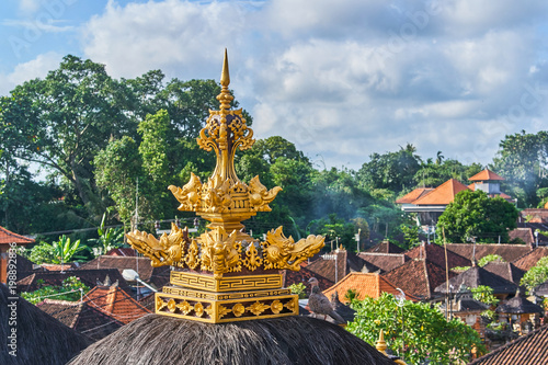 Beautiful view of Ubud city from the roof on Bali island, Indonesia