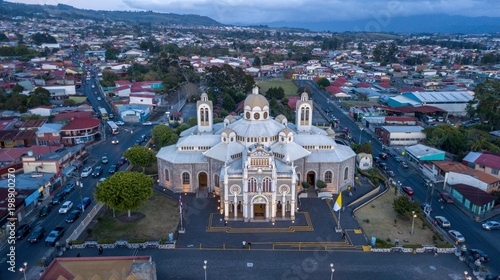 Aerial view of the Basilica of Cartago, Costa Rica Canvas Print