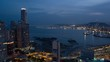 Beautiful aerial view the City of Panama At Night