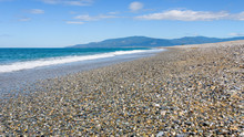 View Of A Gravel Beach In Cala...