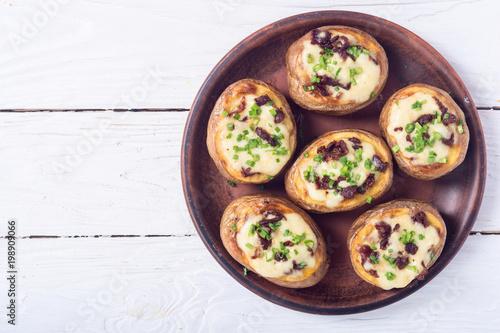 Plakat Ziemniak pieczony faszerowany serem
