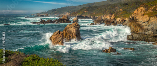 Tablou Canvas A panoramic view of the Big Sur coastline along California.