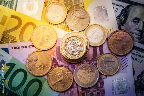 Coins Are In Euros And Dollars The Macro