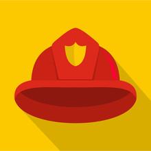 Helmet Icon. Flat Illustration...
