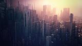 Fototapeta City - futuristic city