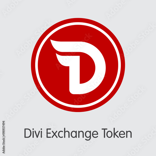 Photo  Divi Exchange Token - Crypto Currency Icon.