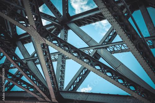 Foto auf Leinwand Bridges Bridge frame closeup
