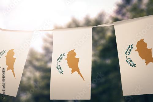 Foto op Canvas Cyprus Cyprus flag pennants
