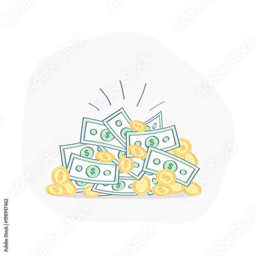 Fotografía  Big bright pile of money