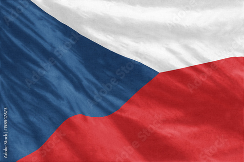 Photo  Flag of Czech Republic full frame close-up