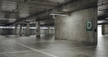3d Empty Underground Parking S...