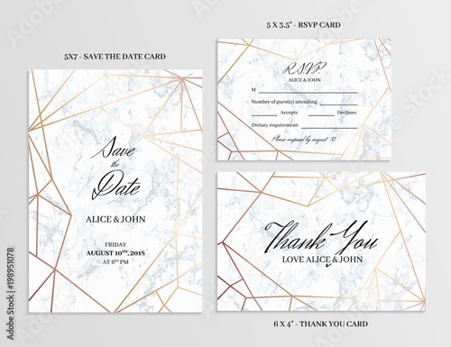 Wedding Set Save The Date Thank You And R S V P Cards Template Of