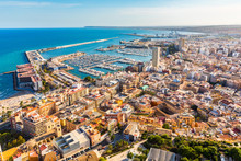 Alicante City Panoramic Aerial...