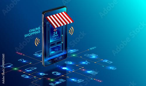 Fotomural  Online shopping