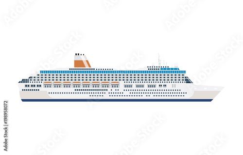 Fotografia  sea cruise ship isolated on white
