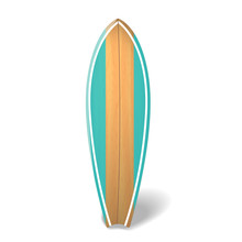 Vector Wood Surf Board Summer ...