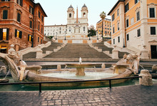 Spanish Steps In The Plaza Of ...