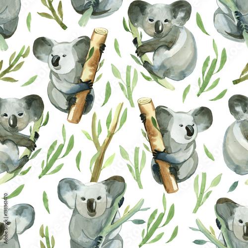 bezszwowy-wzor-akwareli-koala-trzyma-bambusowa-galaz