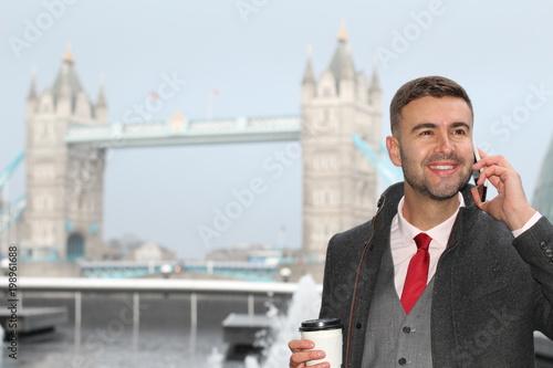 Fotografía  Successful British businessman on the phone
