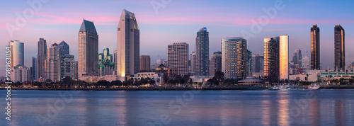 Downtown City of San Diego panorama, California USA at Dawn