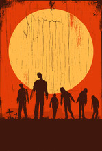 Silhouette Of Zombies Walking ...