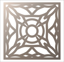 Laser Cutting Square Panel. Openwork Floral Pattern With Mandala. Perfect For Gift Box Silhouette Ornament, Wall Art, Screen, Panel Fence, Partition, Gate  Or Coaster.