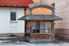 Old Abandoned Newspaper Kiosk