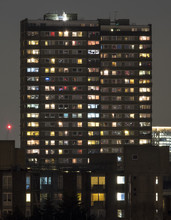 Towerblock At Night, Showing T...