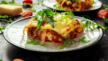 Homemade Lasagna With Minced B...