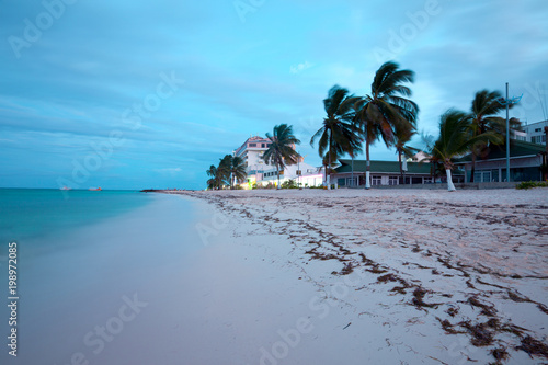 Foto auf Acrylglas Tropical strand Main beach at San Andres Island, Colombia, South America
