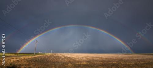 Fototapeta Kansas double rainbow 2015 obraz na płótnie